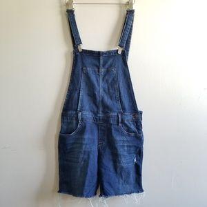 Zara Denim Overall Shorts